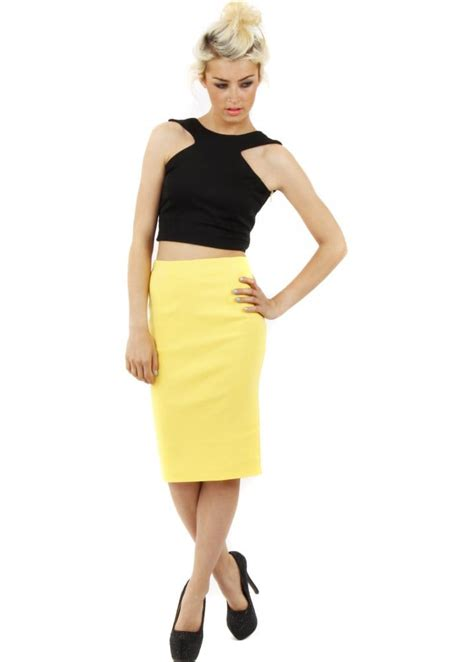 tempest pam skirt yellow midi pencil skirt tempest