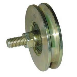 roue pour porte coulissante bande transporteuse caoutchouc
