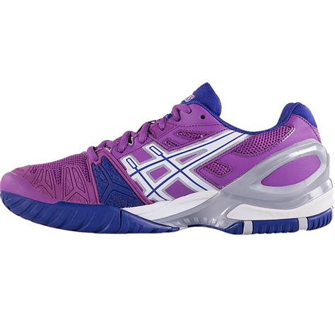 asics gel resolution 5 s tennis shoes grape white