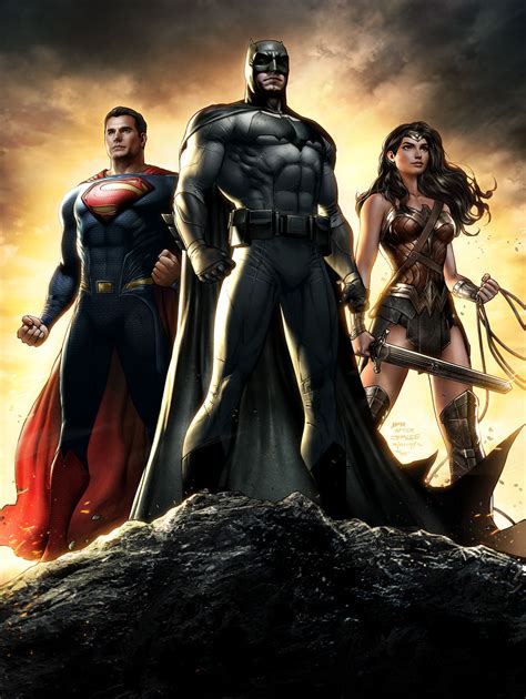dawn of justice batman v superman the trinity stand tall on best batman v superman fan made