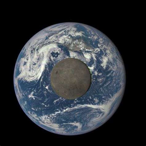 Teh Nasa gms from a million away nasa shows moon