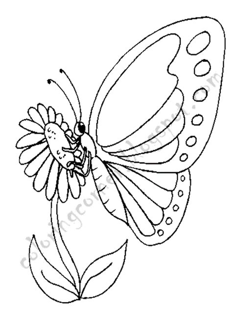 Coloring Page Butterfly by Butterfly Coloring Pages