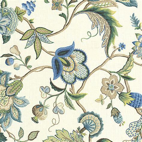 fabric home decor fabric jacobean floral fabric 1 by blue jacobean floral linen fabric traditional drapery