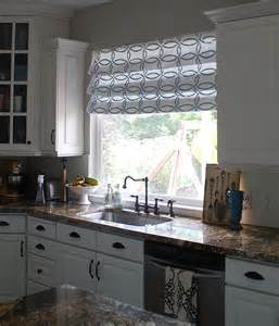 Kitchen Shades And Curtains by Stenciled Faux Roman Shades Tutorial Kitchen Sneak