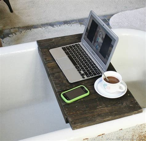 bathtub laptop holder diy bathtub tray designs fun to make and great to use