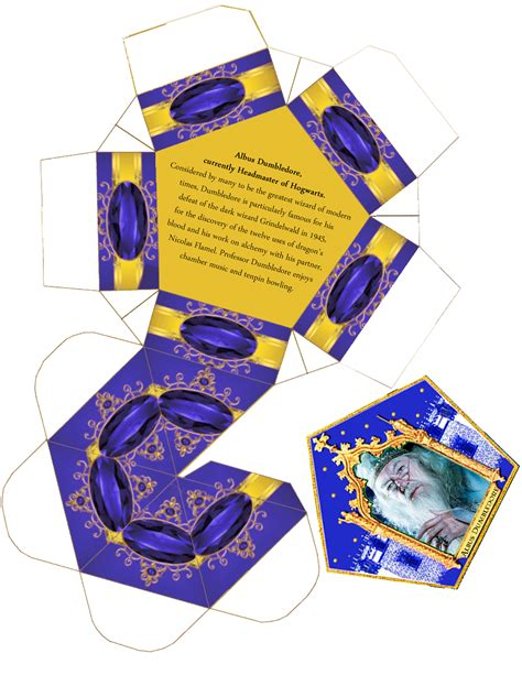 Chocolate Frog Box Template With Cards harry potter paraphernalia chocolate frogs box template