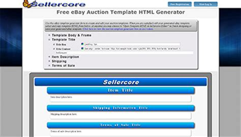 free ebay auction template generator rachael edwards