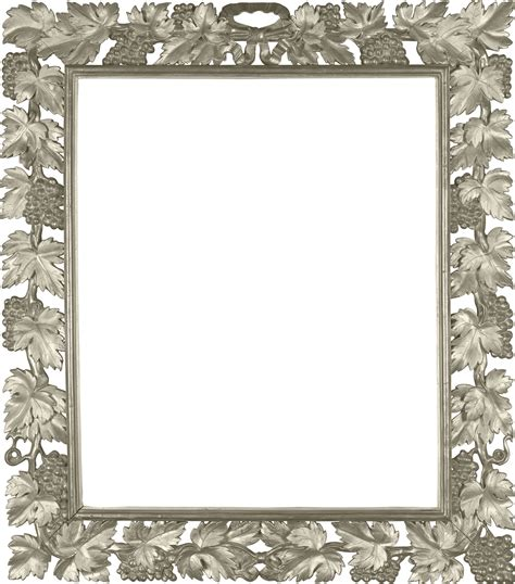 Pigura Foto Size 2r silver transparent png photo frame with vine gallery yopriceville high quality images and