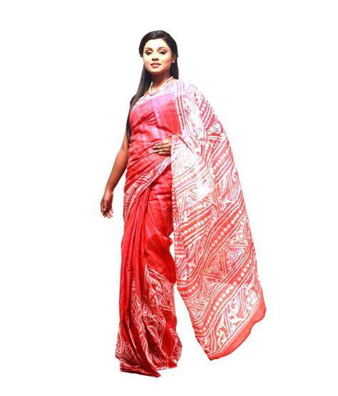 Blouse Kerja Batik Orange bdesi orange cotton batik saree buy bdesi orange cotton batik saree at low price