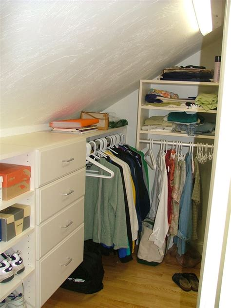 1000 Images About Angled Roofline Closet Ideas On Sloped Ceiling Closet