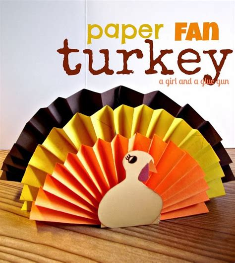 A Paper Turkey - edge of insanity 3 kid friendly thanksgiving crafts