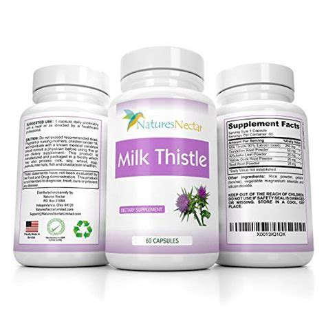 Detox Seed Extracet by Organic 250 Mg Milk Thistle Seed Standardized 80