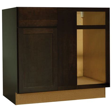 corner base kitchen cabinet hton bay shaker assembled 36x34 5x24 in blind base