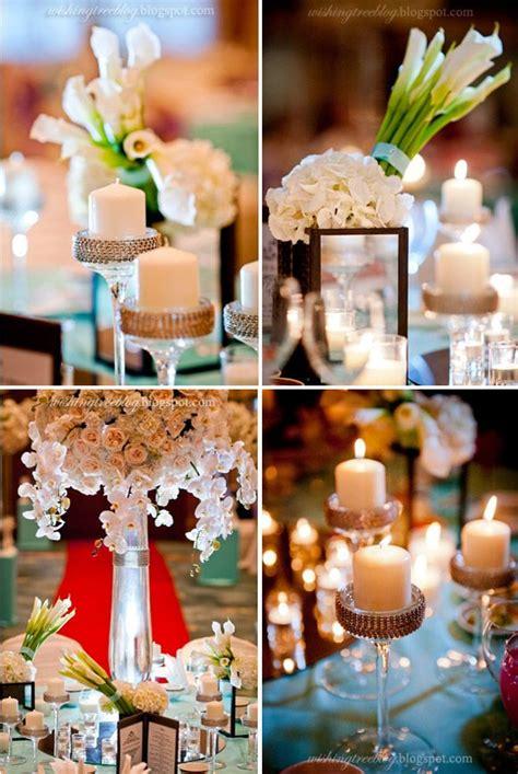 velas y candelabros centro de mesa con velas y candelabros decorados con cinta