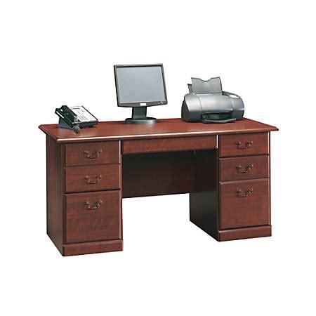 sauder heritage hill executive desk sauder heritage hill executive desk 29 h x 59 12 w x 29 12