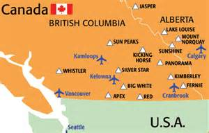 canada ski resorts map canada ski resorts map pictures to pin on