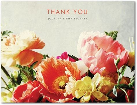 Wedding Paper Divas Thank You Cards by A Word Of Thanks Bridalguide