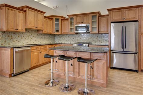 glazed toffee rta all wood kitchen cabinets
