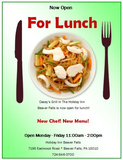 lunch flyer template with official staff publisher flyer