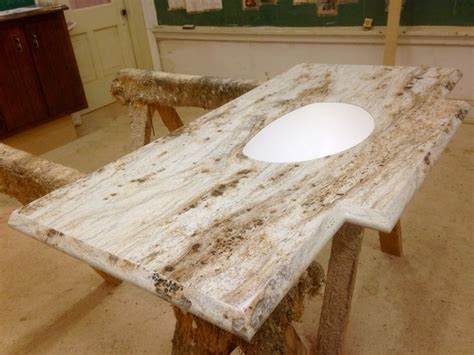 Custom Laminate Countertops by River Gold Karran Mount Sink Bowl Ogee Ideal Edge