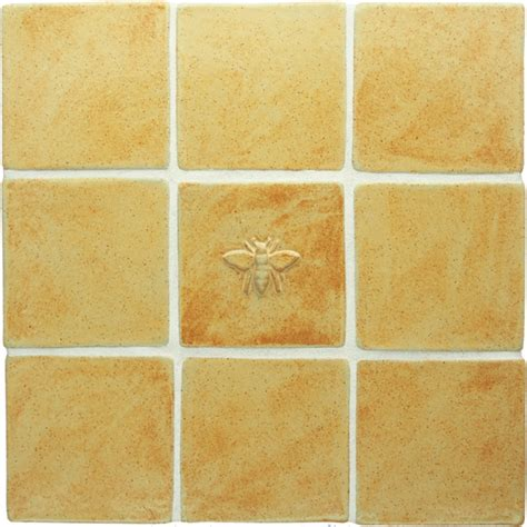 honeybee handmade ceramic accent tile 4x4