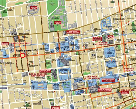 map of tourist attractions montreal map tourist attractions travelsfinders