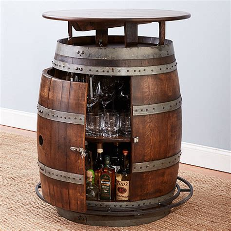 Vintage Oak Wine Barrel Bistro Table Vintage Oak Barrel Bistro Table Whiskey Finish Wine Enthusiast