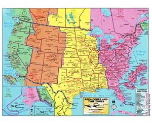 us time zone map with cities maps of the usa the united states of america political