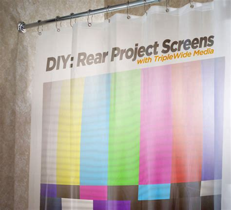how to make your own screen from a shower curtain