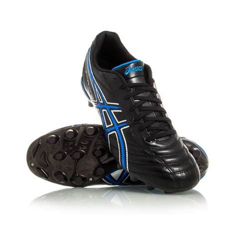 Asics Football Gear asics lethal rs mens football boots black mid blue silver sportitude