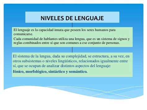 trascender los niveles de niveles de lenguaje