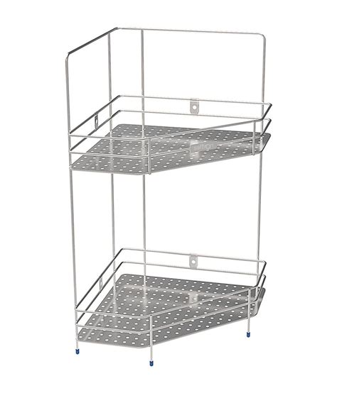Stainless Corner Shelf by Buy Saffron Stainless Steel Corner Shelf At Low