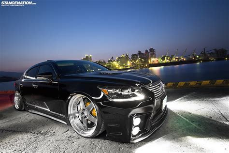 lexus ls stance two of a a pair of ls460s stancenation