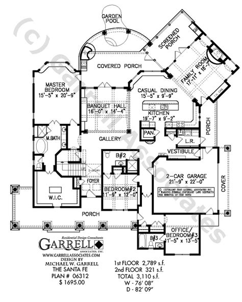 santa fe style house plans santa fe house plan house plans by garrell associates inc