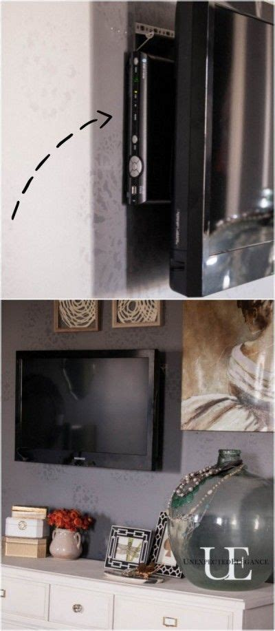 ways to mount a tv how to mount a t v and hide the cords cable box cord