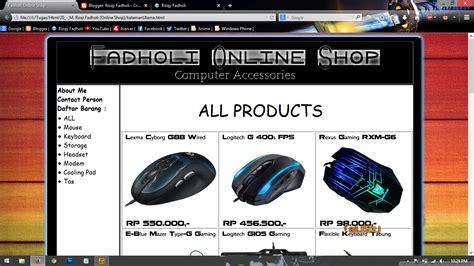 cara membuat online shop ramai pembeli membuat online shop sederhana menggunakan html fadholi