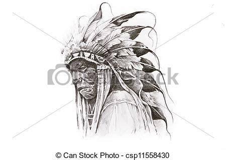 drawings of tattoo sketch of native american indian