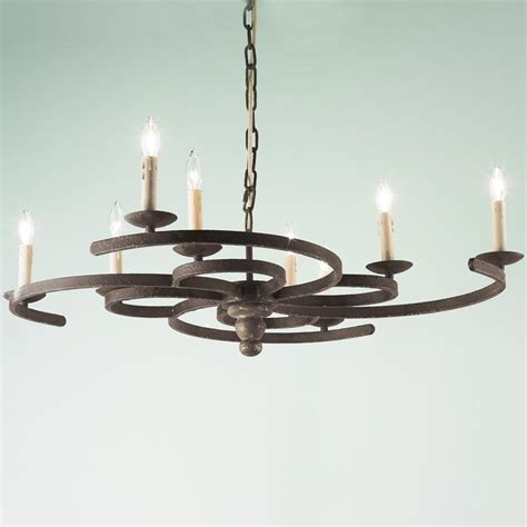 Iron Chandelier With Candles Swirling Iron Candle Chandelier Chandeliers By Shades Of Light