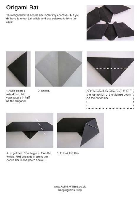 Easy Origami Bats - bats birds and biodiversity gifted things