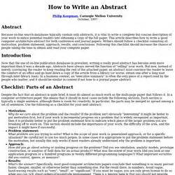 how to write an abstract for scientific paper pearltrees