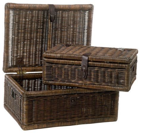decorative covered baskets covered wicker storage basket decorative boxes by the