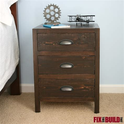 3 Drawer Nightstand by White Diy 3 Drawer Nightstand Diy Projects