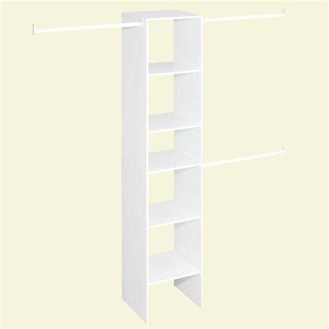 Closetmaid Parts Catalog Closetmaid Selectives 16 In White Custom Closet Organizer