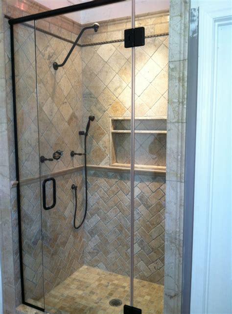 Rubbed Bronze Shower Doors by Frameless Shower Door In Rubbed Bronze Kerabath