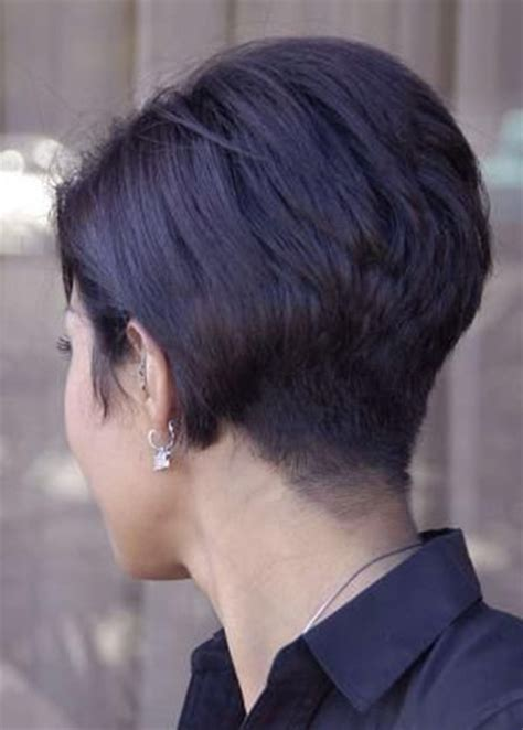 back view of asymmetric crop back view of short haircuts short hairstyles 2017 2018