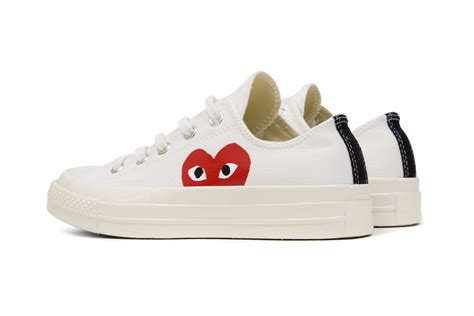 Sale Sepatu Converse Ox 70s Come De Garcons converse x comme des garcons play all chuck 70 ox white feature sneaker boutique