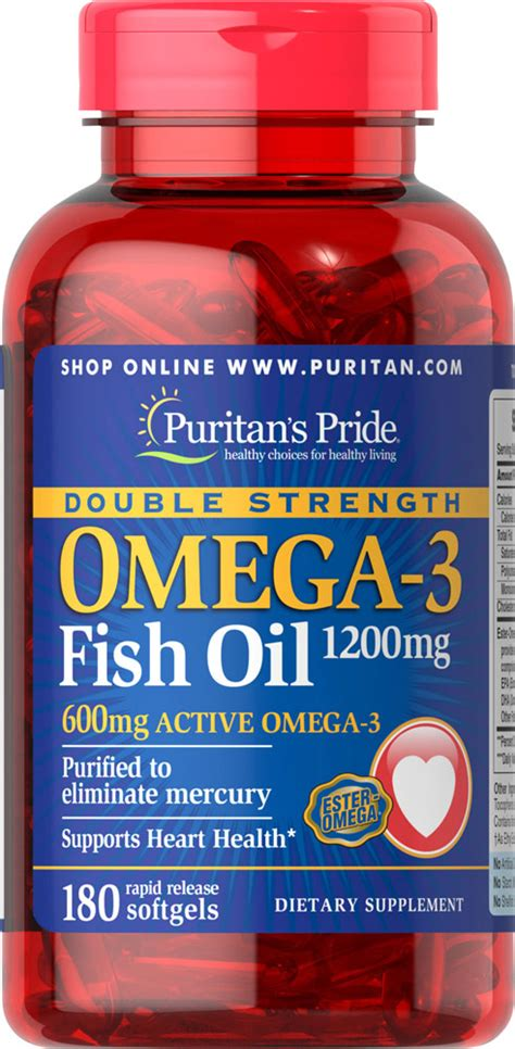 Puritan S Pride Strength Omega 3 Fish 1200 Mg 90 Softgel puritan s pride strength omega 3 fish 1200 mg 180 softgels ebay