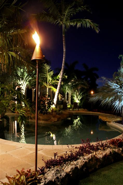 Outdoor Tiki Lights Led Fuel Tiki Torch Tropical Outdoor Lighting Other Metro By Coastal Source