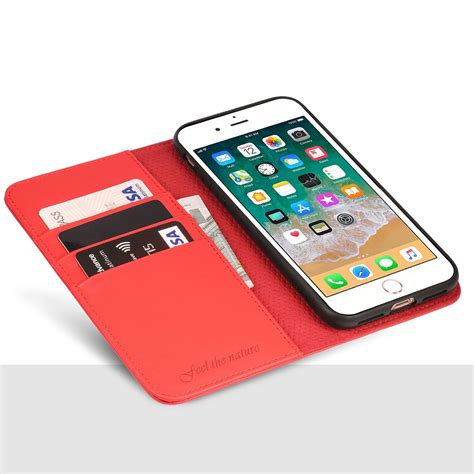 shieldon iphone 8 plus wallet color magnet closure kickstand function flip cover