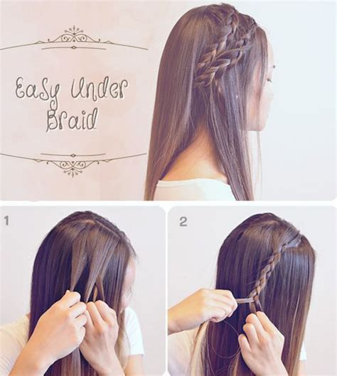 easy to maintain hairstyles that go back behind the ear easy under braid easy back to school hairstyles to let